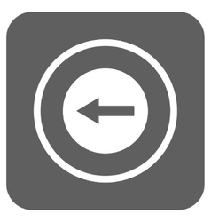 Left rounded arrow flat squared icon vector