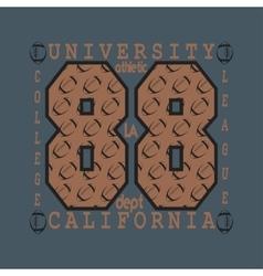 Los Angelis CA fashion Typography sport vector image