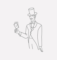 magician icon line element of vector image