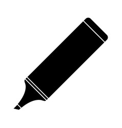Marker school utensil pictogram vector