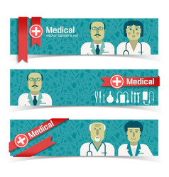 medicine and health banners set vector image