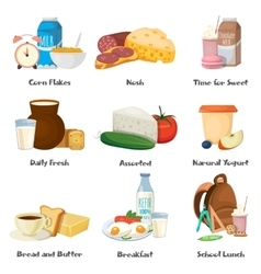 Milk Food Decorative Icons Set vector image