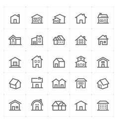 mini icon set - home icon vector image