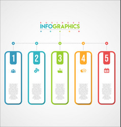 modern infographic colorful design template 1 vector image