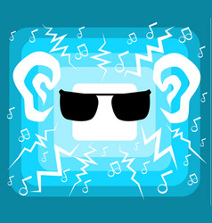 music charged cartoon vector image