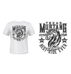 mustang stallion t-shirt print template vector image
