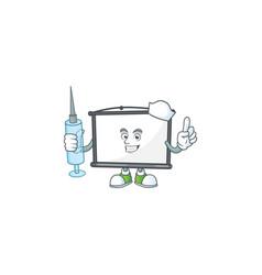 Nurse empty project screen mascot for display vector