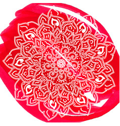 ornamental lotus flower ethnic art vector image