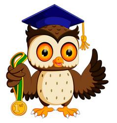 Owl in graduate vector
