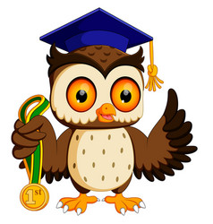 owl in the graduate vector image
