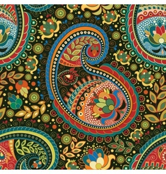 Paisley colorful seamless pattern vector