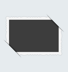 photo frame with cut corner vector image