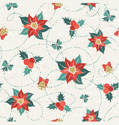 poisettia seamless pattern vector image