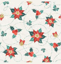 poisettia seamless pattern vector image