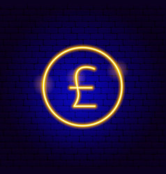 pound uk neon sign vector image