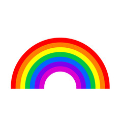 Rainbow symbol isolated on white background vector