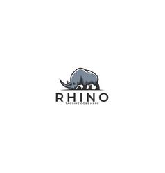 rhino template vector image