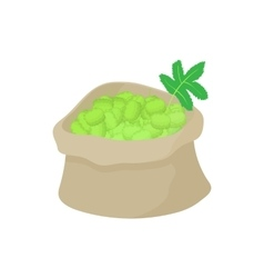 Sack of hops icon cartoon style vector image
