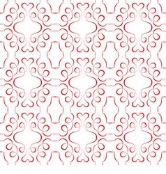 seamless red pattern on a white background vector image