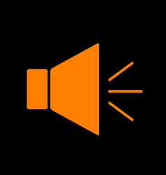 Sound sign with mute mark orange vector