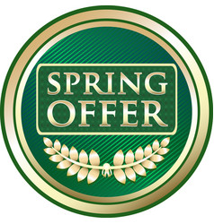 spring offer icon vector image