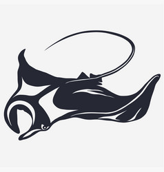 stingray logo vector image