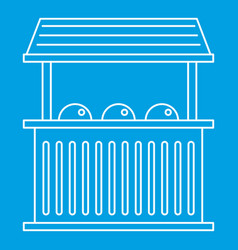 Street food kiosk icon outline style vector