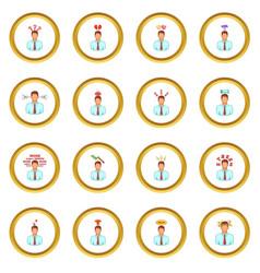 Stress icons circle vector