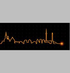 stuttgart light streak skyline vector image