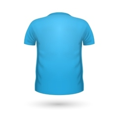 T-shirt Teplate Back View vector