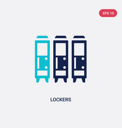 Two color lockers icon from american football vector