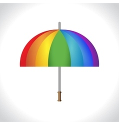 Umbrella icon Protection from rain Colorful vector image