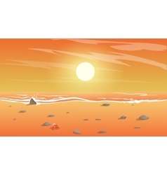 view beach vector image