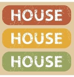 Vintage HOUSE stamp set vector