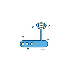 wifi router icon design vector image