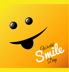 World smile day bright greeting card vector