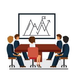 business meeting marketing presentation cartoon vector image