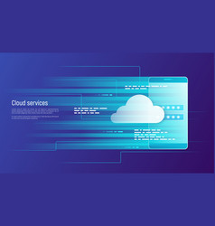 cloud services remote data storage concept vector image vector image