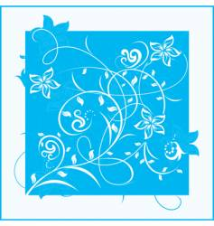 decorative flowers on color background vector image vector image
