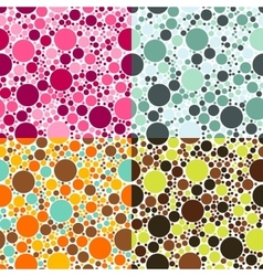 dots seamless patterns vector image vector image