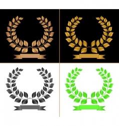 laurel chaplets vector image vector image