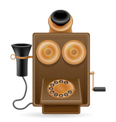 phone old retro icon stock vector image vector image