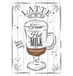 Poster latte vector image