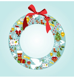 Season icon set in Christmas wreath vector image vector image