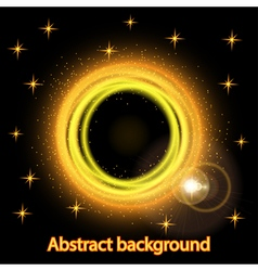 Abstract background with bright fire glowing vector image vector image