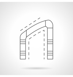 Asymmetrical arch flat line icon vector