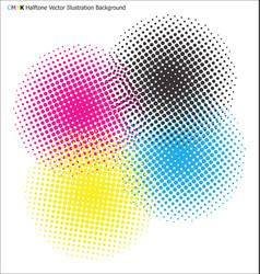 cmyk halftone background vector image