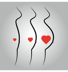 pregnant woman silhouettes vector image