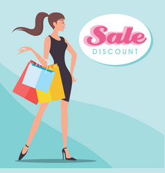 sale discount shopping vector image