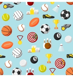 Seamless sports pattern background vector image vector image